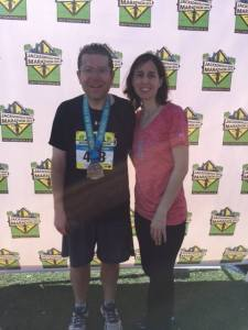 Nice post-race photo with Allison. I am so lucky.