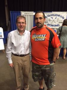 I love being a loser.  With Toma, winner of most recent season of The Biggest Loser while I was picking up my bib for the Walkway Over the Hudson Marathon.  #TeamToma
