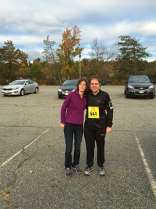 With my wife at the start.  She was so nervous for me.  I will always be grateful for her support.