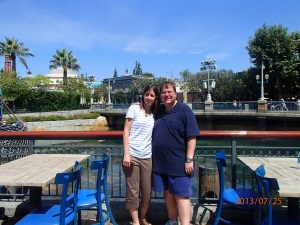 With my wife at Disneyland's California Adventure. About a month into my diet in July, 2013